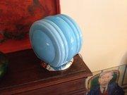 Art Deco Turquoise Opaline Shade