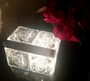 Art Deco Wall Ceiling Table Lamp Crystal and Chrom