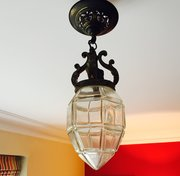Art Nouveau French Lantern  Bronze