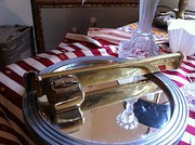 Wonderful Art Nouveau Scribe Brass French
