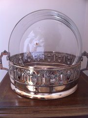 Art Nouveau Silver Plated Dish French
