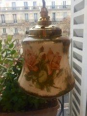 Beautiful Victorian  Enamelled Ceiling Lamp