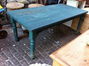 Blue Country Kitchen Table in Pine