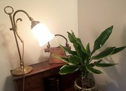 Classic Edwardian Adjustable Desk Lamp Brass