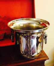 Classic Wine Champagne Cooler Silver Plate Brass
