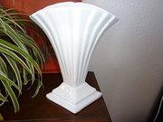Art Deco fan shaped vase