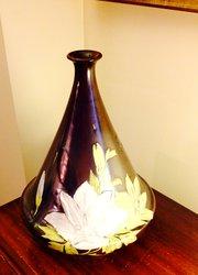 Doulton Holbeinware Enamelled Vase Stamped