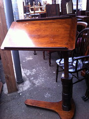 Edwardian  Reading Table in Mahogany by Leveson &