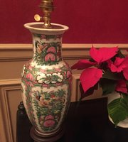 Famille Rose Table Lamp Faience