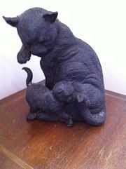 Bronze Cat and Kitte