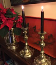 Fine Quality 1800 French Candlesticks Silver Plate