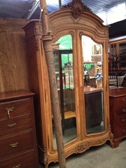 French Armoire Louis XV Style in Walnut