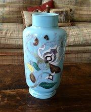 Gorgeous Art Nouveau Enamelled Vase Opaline