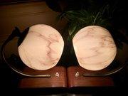 Iconic Pair Art Deco Desk Lamps