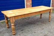 Large Victorian Farmhouse Table Pine Seats 10