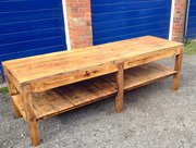 Large Atelier Work Table Pine