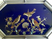 Art Nouveau  Octogonal Tray Enamel and Pewter