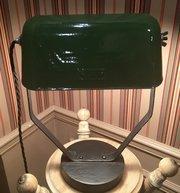 Original  Modernist Adjustable Bankers Lamp Green