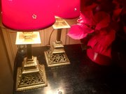 Pair Georgian Mantelpiece or Consol Lamps Brass