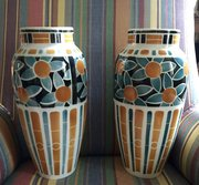 Pair Large Vases Nostalgic 50's