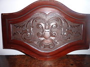 Pair Oak Carving Pediment 18th C