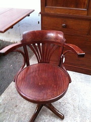 Antique Bentwood Swivel Office Chair