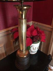 Handsome Art Deco Obelisk Desk Lamp Brass on Bakelite