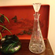 Tall Stylish Decanter Crystal