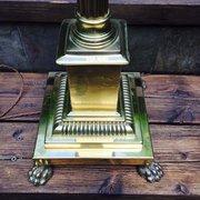 Edwardian Standard Lamp Corinthian Column Brass