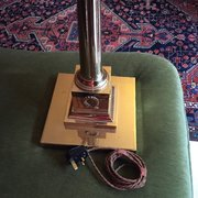 Vintage Standard Lamp Brass