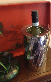 Wine Bottle Insulator Silver Plated