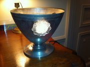 Wonderful Art Deco  Table Uplighter Chrome and Lucite