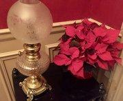 Wonderful Art Nouveau Converted Oil Lamp Bronze