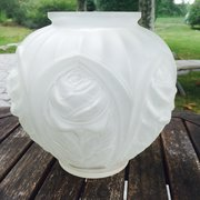 Gorgeous Large Art Deco Vase in frosted glass