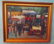 Oil on canvas Market Scene