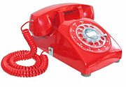 Red Canadian built 500 Series telephone