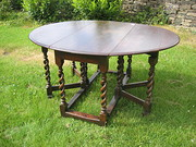 Double Barley Twist Leg Table.