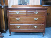 Solid Walnut Chest Of Drawers