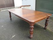 Antique Carved Oak Extending Dining Table