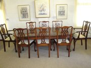Antique Mahogany Chippendale Style Dining Suite