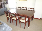 Antique Victorian Mahogany Dining Suite
