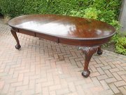 Large Antique Mahogany Dining Table