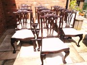 Set 10 Antique Mahogany Dining Chairs