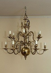 12 Arm Brass Chandelier