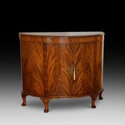 1920's Mahogany Demi Lune Drinks Cabinet