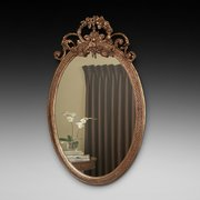 19thC Giltwood and Gesso Mirror
