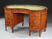 19th Century Mahogany Kidney Shaped Desk