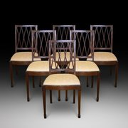 6 Edwardian Mahogany and Inlaid Dining Chairs