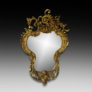 A 19th century giltwood and gesso Antique mirror