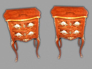 A pair Petites Commodes